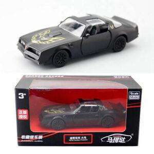 1/36 1978 Pontiac Firebird Model Car Diecast Toy Vehicle Kids Gift Matte Black
