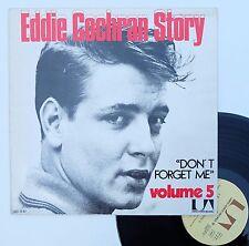 "Vinyle 33T Eddie Cochran  ""Eddie Cochran story volume 5 - Don't forget me"""