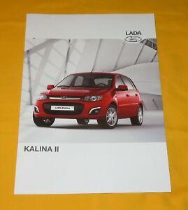 Lada Kalina II 2016 Prospekt Brochure Depliant Prospetto Catalog Folder брошюра