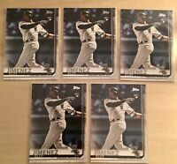(5 LOT) 2019 Eloy Jimenez Topps Series 2 Rookie Card RC #670 Chicago White Sox