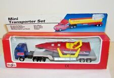 Vintage Maisto Mini Transport Big Rig Tractor Trailer w/ Cigarette Boat Diecast