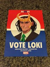 Vote Loki - Marvel Comics Promotional Promo Election Poster