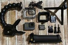 GoPro Hero5 Black CHDHX-501 Camera + Gemi 3-Way Arm/Grip/Tripod+Jaws Clamp