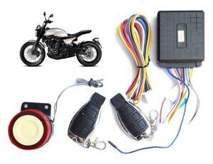 Kit antifurto allarme moto scooter universale sicurezza sirena 125dB telecomando
