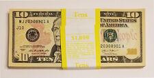100 PCS BRAND NEW UNC $10 Ten Dollar Bills Sequential Order FULL BUNDLE $1000