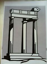 Roy Lichtenstein Temple  - Leo Castelli Gallery 1964 Poster 24 X 33cm Pop Art 49