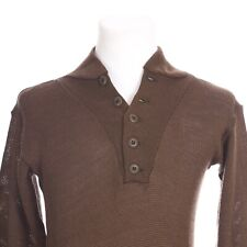 Military Issue Army Wool Pullover Sweater Men Medium Brown 8405-00-163-8906