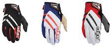 AXO Fastrack Full Fingered Gloves BMX MTB  Size 10 Large   White/Red/Black/Grey