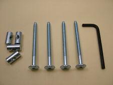lit/boulons de Berceau 4 Set M6 x 75mm verrou, Allen clés & 20mm Baril NOIX = 9