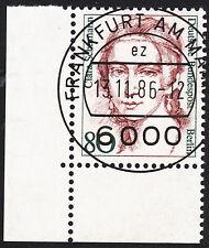 32) Berlin 80 Pf. Frauen  771 Eckrand Ecke 3 E3 EST Frankfurt m Gummi Perfekt