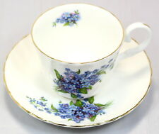 Marlborough Staffordshire Fine Bone China Forget Me Not Cup And Saucer