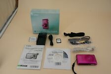 Canon PowerShot SD1400 IS 14.1 MP Pink Digital Elph Camera 4x Optical IS Zoom