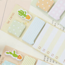 2pcs/lot Note Pad Planner Diary Cactus Memo Pad Cute Label Stickers Stationery