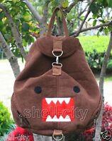 New Brown Monster Domo Kun Plush Bag Multi Function Schoolbag Backpack