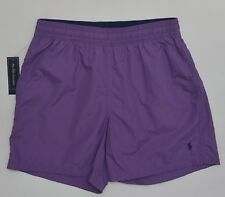 Men's POLO RALPH LAUREN Purple Swimsuit Trunks L Large NWT NEW Nice!  4154917