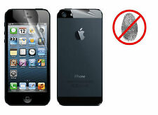 Front and Back Anti-Glare Antiglare LCD Screen Protector for iPhone 5 5th Gen