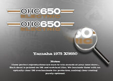 YAMAHA 1975 XS650 SIDE COVER DECALS GRAPHICS LIKE NOS