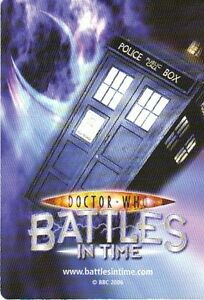 Dr Who Battles In Time Exterminator 001-060 Common & Rare Trading Card