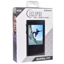 "Eclipse Supra Fit 8GB 2.8"" Touch MP3 MP4 Music Video Player Camera Bluetooth BLK"