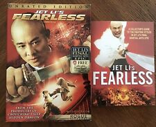 Jet Li Fearless (DVD, Unrated & Theatrical Widescreen) W Collectible Photo Book