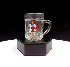 "GERMAN CRYSTAL HAND PAINTED DUTCH GIRL PANELED 2 5/8"" CHILDREN'S MUG"