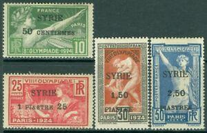 EDW1949SELL : SYRIA 1924 Scott #133-36 Olympics Very Fine, Mint OG. Cat