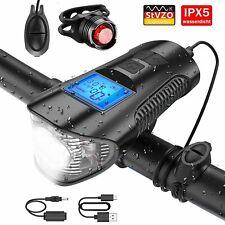 MTB Fahrrad Licht Akku Vorne Hinten Frontlicht R/ücklicht Fahrradlampe IPX5 StVZO Zugelassen Fahrradlicht LED Set Fahrradlichter USB Aufladbar Fahrradbeleuchtung mit Sensor 50 Lux 2 Leuchtst/ärke