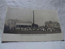 LAWTON OK Oklahoma Farmer's Gin & Cotton Yard early 1900's RPPC Postcard
