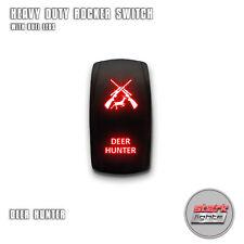RED Laser Etch LED Rocker Switch 5 PIN Dual Light 20A 12V ON OFF - DEER HUNTER
