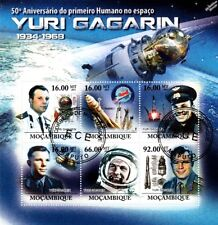 YURI GAGARIN Cosmonaut / First Man in Space Stamp Sheet (2011 Mozambique)