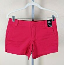New York & Company Red Twill Shorts Size 0
