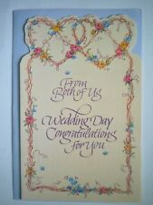 "American Greetings ~""WEDDING DAY CONGRATULATIONS FROM BOTH OF US"" GREETING CARD"