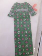 Vintage Barbie Green and Pink Flowered Dress with Shows