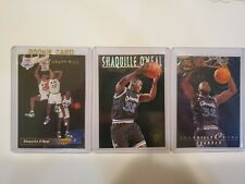 92-93 Upper Deck Shaquille O'Neal SP RC. 3 Card Lot w/ 93-94 Skybox Inserts