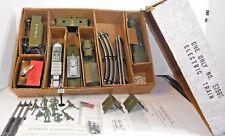 Marx #52965 Postwar Army Train, DieCast Loco, All Original Accessories, Orig Box