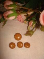 4 BOUTONS (imitation cuir) couleur marron clair / BUTTONS