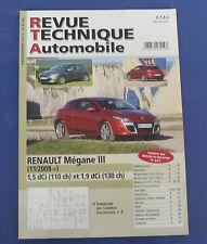 Revue technique automobile RTA B744 Renault mégane III 11/2008 1.5 dCi & 1.9 dCi