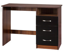 New Marina Black and Walnut 3 Drawer Dressing Table Study Desk Only