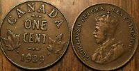 1929 CANADA SMALL 1 CENT COIN PENNY VG-F BUY 1 OR MORE ITS FREE SHIPPING!