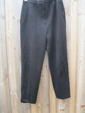 VINTAGE 80s BLACK WOOL TAPERED CIGARETTE PANTS 12
