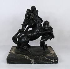 """Augusto Rivalta (Italian, 1838–1925) """"Hercules and the Centaur"""" Antique Bronze"""