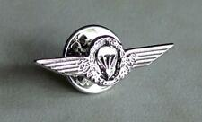 German Germany Army Airborne Jump Parachutist Paratrooper Lapel Pin Wing Silver