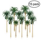 15pcs Multi Gauge Model Coconut Palm Trees HO O N Scale Scenery House Home Decor
