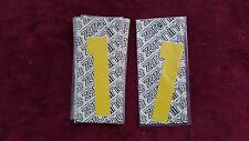 OLD SCHOOL BMX ZERONINE NUMBER PLATE NUMBER #1 4 MONGOOSE REDLINE GT JMC CW