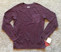 NWT Men's Pomgranate Red Long Sleeve Mossimo Pullover Top Small