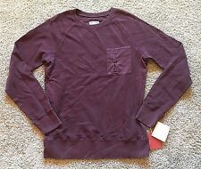 NWT Men's Red Pomgranate Long Sleeve Mossimo Pullover Top Medium