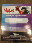Mulan HD Digital Movie Code (from blu-ray)