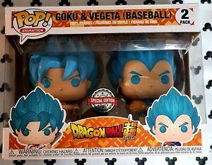 Funko Pop Dragon Ball Super Goku & Vegeta Baseball 2 Pack Anime Vinyl Figure