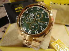 Invicta 29888 50mm Coalition Forces Sniper Chrono Gold Tone S/S Bracelet Watch!