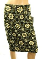 LuLaRoe Cassie Black With Brown Floral Pencil Skirt Stretch Size M - USA